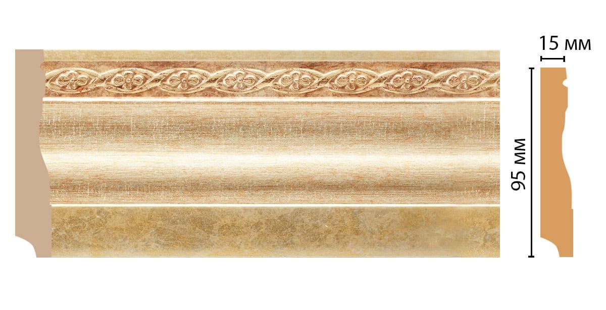 153-933 Плинтус напольный (2400 × 95 × 12 )