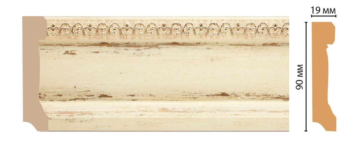 166-1028 Плинтус напольный (2400 × 90 × 19 )