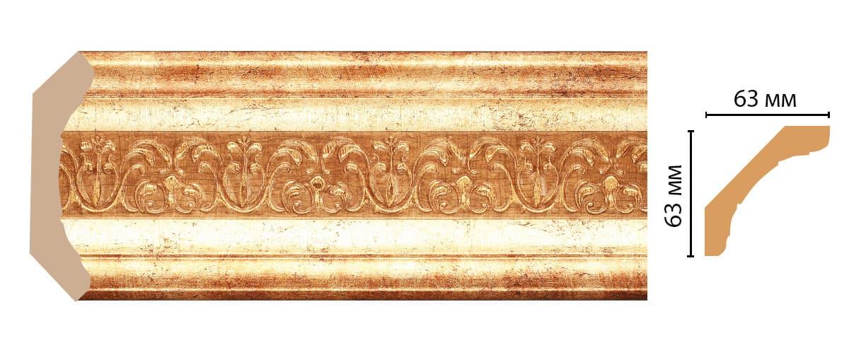168-126 Плинтус (2400 × 62 × 62 )