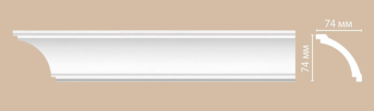 96616/34 плинтус DECOMASTER-2 (74х74х2400мм) [96005]