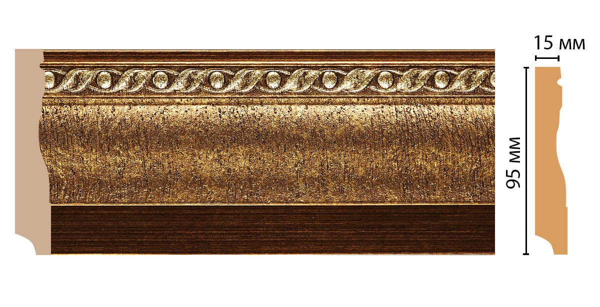 153-43 Плинтус напольный (2400 × 95 × 12 )