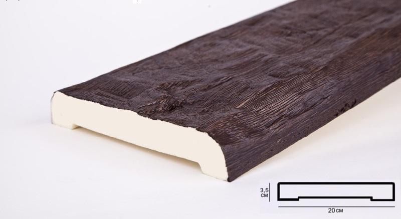 Д20 темн.дуб Доска (2000 × 200 × 35 )