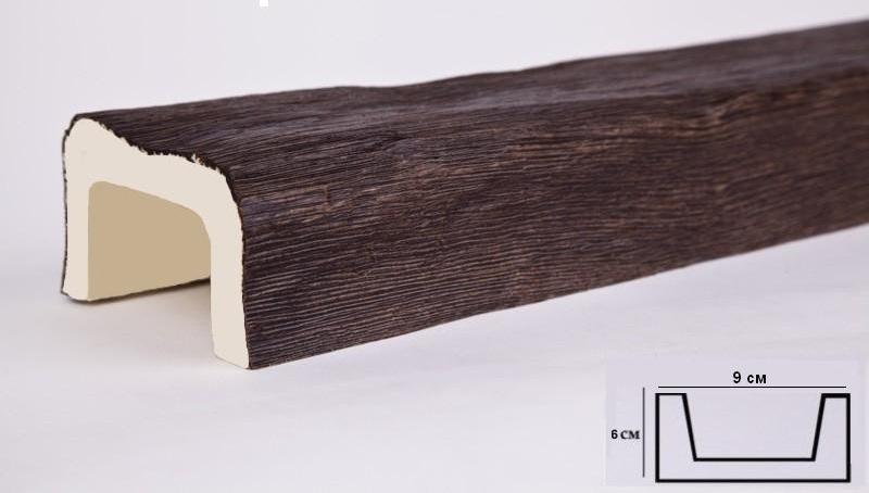 Б1 балка темный дуб (6х9х300см) ОП