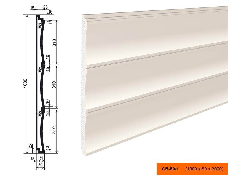 Накладка  СВ - 50/1  панель (1000х50х2000)