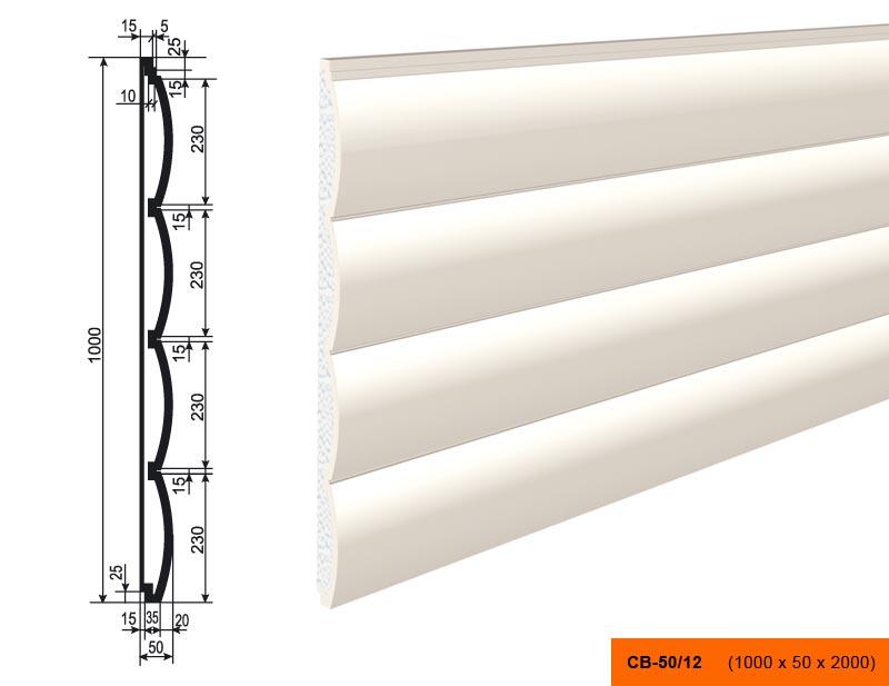 Накладка  СВ - 50/12  панель (1000х50х2000)