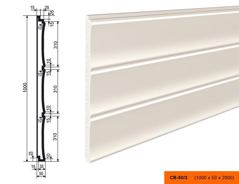 Накладка  СВ - 50/3  панель (1000х50х2000)