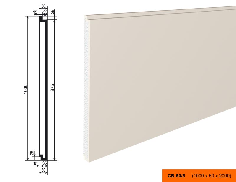 Накладка  СВ - 50/5  панель (1000х50х2000)