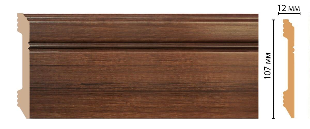D105-74 Плинтус напольный (2400 × 107 × 12 )