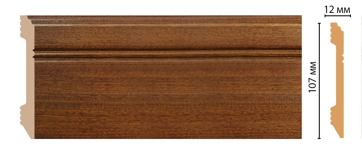 D105-75 Плинтус напольный (2400 × 107 × 12 )