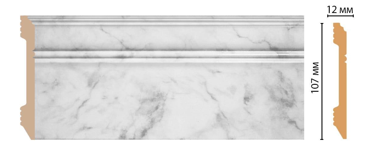 D105-79 Плинтус напольный (2400 × 107 × 12 )