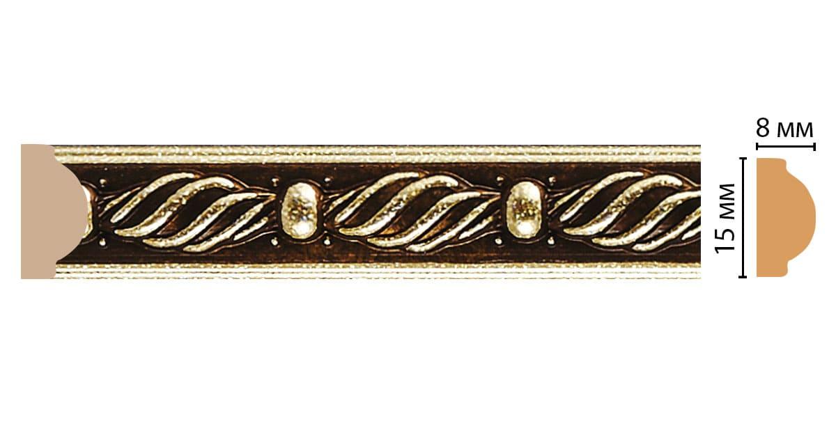 130-28 ДМ Молдинг (2400 × 15 × 8 )