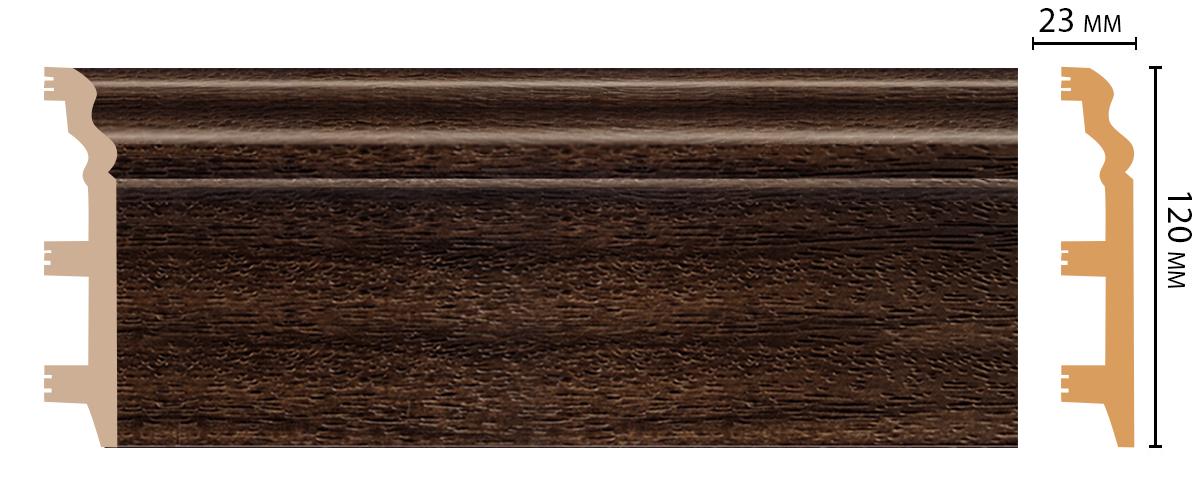D233-438 Плинтус напольный (2400 × 120 × 23 )