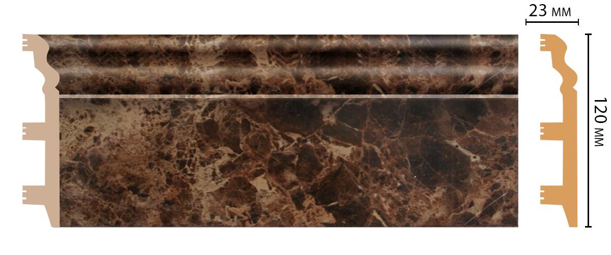 D233-713 Плинтус напольный (2400 × 120 × 23 )