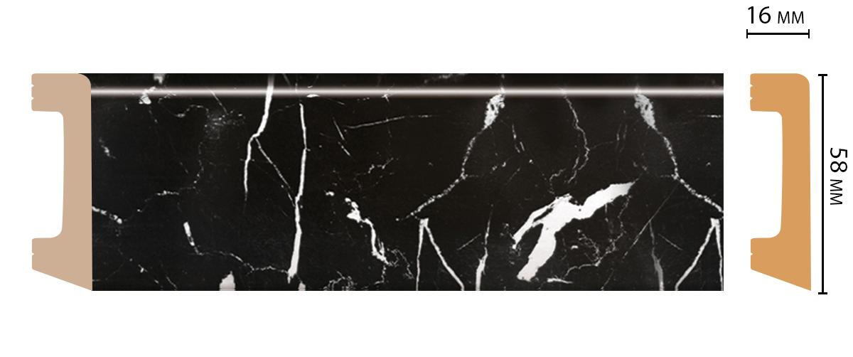D234-78 Плинтус напольный (2400 × 58 × 16 )