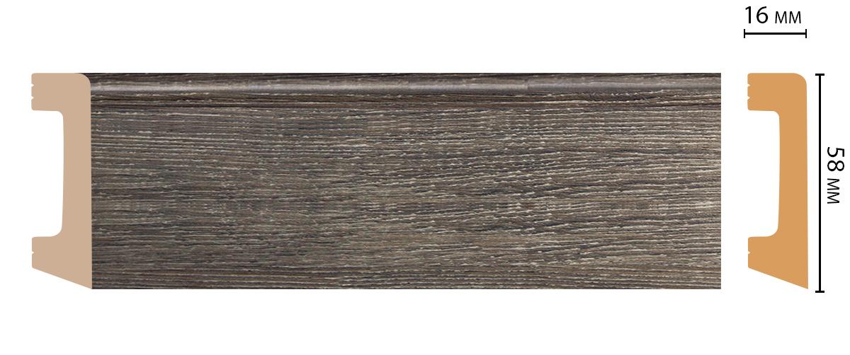 D234-86 Плинтус напольный (2400 × 58 × 16 )